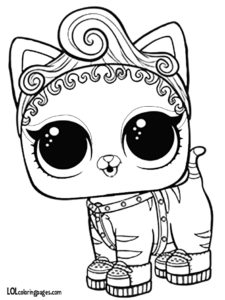 Purrr Baby LOL Pet Coloring Page