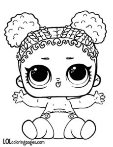 Lil Purple Queen L.O.L Surprise Doll Colouring Page