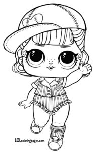 Short Stop LOL Doll Coloring Page