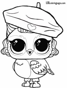 Perfect Angel Wings Eye Spy LOL Surprise Pets Coloring Page