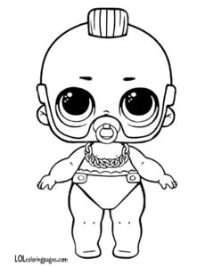 Lil T Custom LOL Doll Coloring Page